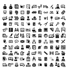 big education icons set vector image vector image