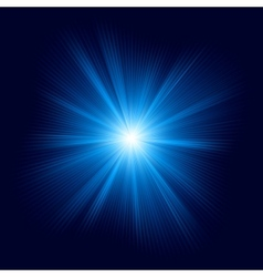 Blue color design with burst EPS 10 vector image vector image