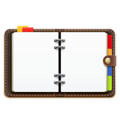 leather personal organizer vector image vector image