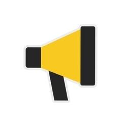 Megaphone icon communication design vector
