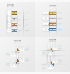 Timeline 4 item gold bronze silver blue color vector