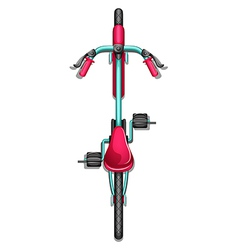 A topview of a bike vector image vector image
