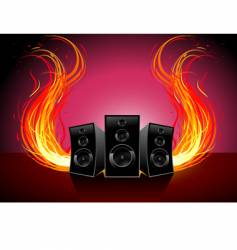 burn music vector image vector image
