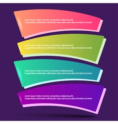 infographics form options workflow purple vector image vector image