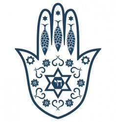 Jewish icons vector image vector image