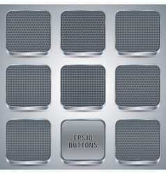 Metallic buttons collection vector image vector image