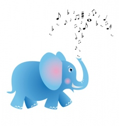 musical elephant vector image vector image