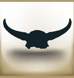 simple buffalo skull vector image vector image