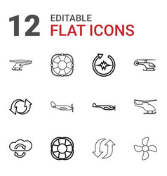 12 rotate icons vector