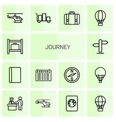 14 journey icons vector