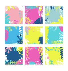 Abstract card templates vector