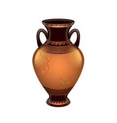 Ancient vase isolated vector
