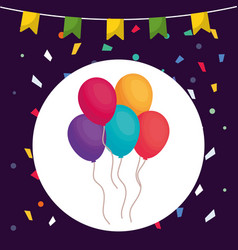 balloons helium floating icon vector image