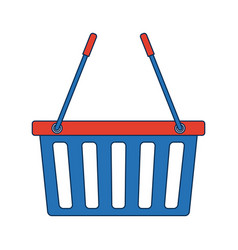 basket shopping empty market commerce business vector image