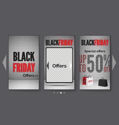 black friday tablet sale realistic web vector image