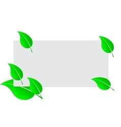 Blank white sheet paper and green fresh spring vector