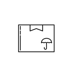 box parcel signs and symbols can be used for web vector image