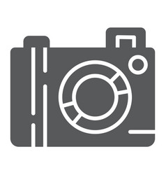 camera glyph icon lens and photo photocamera vector image