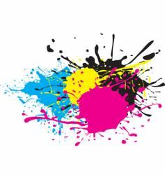 Cmyk paint splat vector