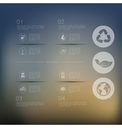 ecology infographic with unfocused background vector image