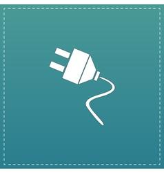 Electrical plug web flat icon vector
