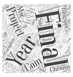 Final Year Project Word Cloud Concept vector