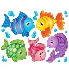 Fish theme image 4 vector