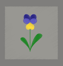 Flat shading style plant viola vector
