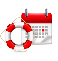 Flotation ring and calendar vector