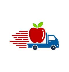 Fruit delivery logo icon design vector