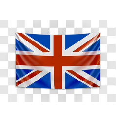 hanging flag great britain united kingdom of vector image