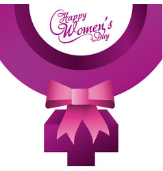 happy womens day card design vector image