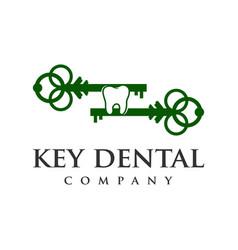 key dental logo vector image