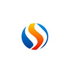 Letter s round logo vector