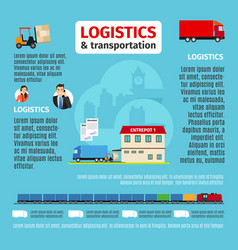 logistics infographic design vector image