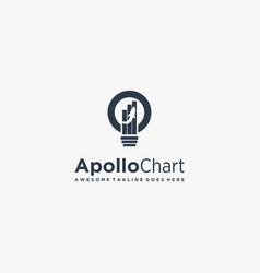 Logo apollo chart silhouette style vector