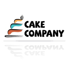 Logotype for a confectioner vector