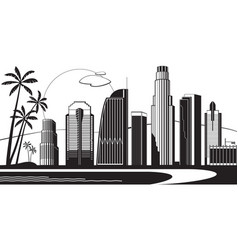 Los angeles silhouette by day vector