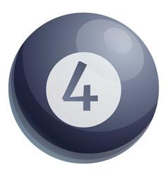 Lottery black sphere icon cartoon style vector