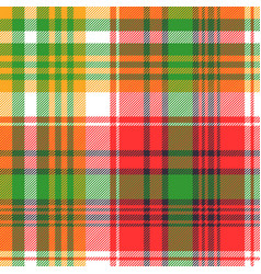 madras plaid seamless fabric texture vector image