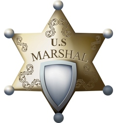 Marshals badge vector