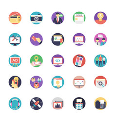 Media and advertisement flat icon vector