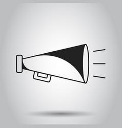 megaphone flat icon bullhorn symbol logo vector image