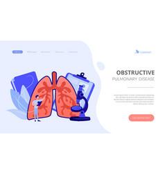 obstructive pulmonary disease concept landing page vector image