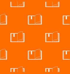open book pattern seamless vector image