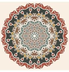 Oriental mandala motif round lase pattern vector
