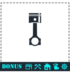 Piston icon flat vector