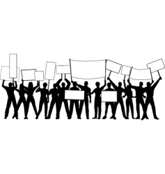 placard holders vector image