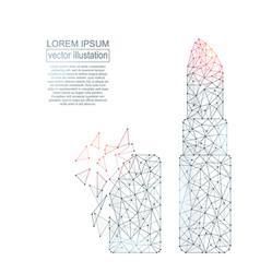 polygonal lipstick abstract image vector image
