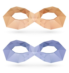 Polygonal masks vector